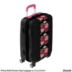 Pretty Pink Peonies Ugo Luggage