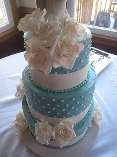 Possible wedding cake ? Tiffany blue
