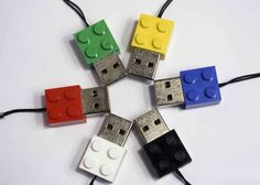 A great way to organize and separate files for large projects is to color code your USB drives.