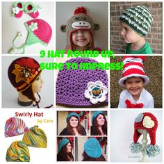9 Free Crochet Hat patterns that are sure to impress!