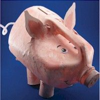 Make a Milk Jug Piggy Bank to show that you can use inexpensive recycled materials to create a bank to save your pennies. Demonstrate how pennies turn into nickles which turn into quarters and then into dollars. Don't waste a single penny, it is the beginning of a dollar. Lots more recycled crafts at freekidscrafts.com.