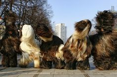 Kukeri is a traditional Bulgarian ritual to scare off evil spirits.
