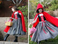 When I think of the woods, I think of poor Little Red Riding Hood lost in it. Check out this AMAZING homemade costume!
