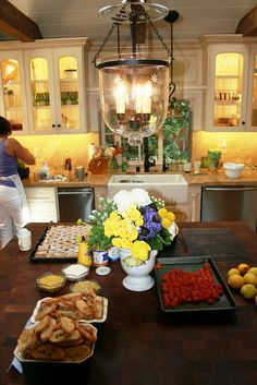 Nancy's new gourmet kitchen is perfect fro entertaining
