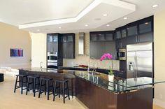 Sleek and modern kitchen design by Novum Custom Homes. #housetrends http://www.housetrends.com/specialist/Novum-Custom-Homes