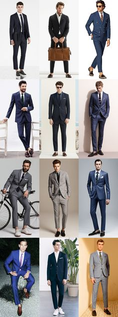 Men's Sockless Suits and Cropped Trousers Summer Outfit Inspiration Lookbook #men #style #suits