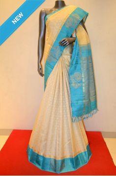 Kanjeevaram Silk Contrast Blue Zari Border Product Code: AB203348 Online Shopping: http://www.janardhanasilk.com/Kanjeevaram-Silk-Contrast-Blue-Zari-Border?search=AB203348&description=true