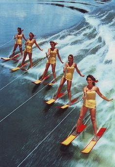 vintage ladies water skiing.
