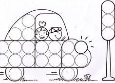 Dibujos y plantillas para gomets para niños