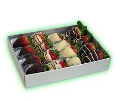 Çikolata ve çileğin biraraya gelişinden oluşan lezzet ahengi..  Bu üründe çikolata kaplı çilekler kullanılmaktadır.