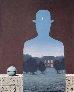 """Rene Magritte has always been one of my favorite artists, since I saw a """"showing"""" of his work at MOMA in NYC.  Amazing paintings!"""
