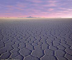 Sea of salt: Salar de Uyuni is the world's largest salt flat, located in Bolivia. Photogra...