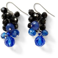 Blue/Black Colorblock Earring ($28) ❤ liked on Polyvore