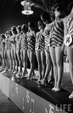 Alfred Eisenstaedt: Beautiful Legs Contest. September 9, 1949