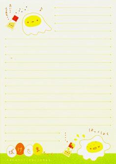 Kawaii egg memo paper, San-X
