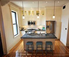 How to Decorate Series {day 23}: Making a Kitchen Feel Larger by Brooklyn Limestone