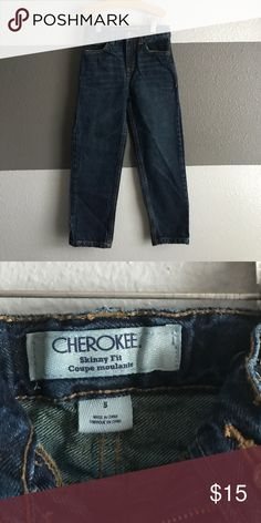 Cherokee Skinny Fit Blue jeans size 5. Skinny fit with adjustable waist. Great condition Cherokee Bottoms Jeans