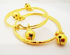 22k 23k 24k Thai Baht Yellow Gold Plated Jewelry Anklet Baby Set Bell *** Find out more about the great product at the image link.