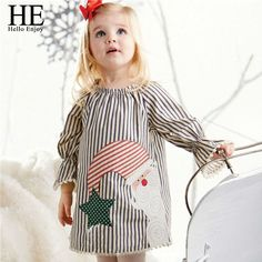 Hello Enjoy children dress stripe Dress girls clothes spring and autumn Long sleeve Costume Cotton Dresses Christmas Clothing #>=#>=#>=#>=#> Click on the pin to check out discount price, color, size, shipping, etc. Save and like it!