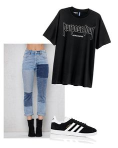 """Untitled #60"" by ameliajaggi on Polyvore featuring PacSun, H&M and adidas"