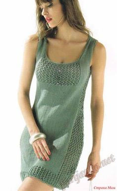 Вязание спицами платье летнее