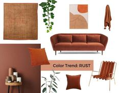 Rust seems to be raising in popularity rapidly these last few months and is now popping up everywhere from fashion to interior design. But where did it come from and why is everyone becoming so obsessed with this rich, retro shade? Living Room Green, Living Room Colors, Living Room Sofa, Home Living Room, Living Room Decor, Room Color Schemes, Terracota, Home Decor Trends, Interior Design