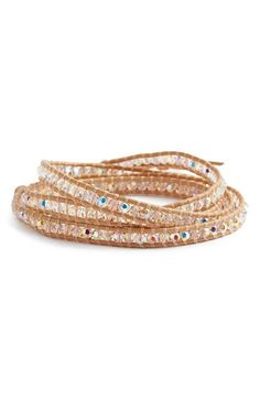Chan Luu Beaded Leather Wrap Bracelet | Nordstrom