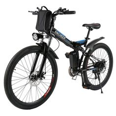 Brand: ANCHEER Smart Phone fast USB Charging Interface design Shimano gear transmission Disc Suspension Fork Speed up to speed b Folding Mountain Bike, Mountain Bike Frames, Electric Mountain Bike, Mountain Bicycle, Mountain Biking, Mountain Bike Shoes, Full Suspension Mountain Bike, Foldable Electric Bike, Folding Electric Bike