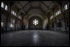 Gym at the Men's Sanatorium, Beelitz-Heilstätten ~ Brandenburg, Germany