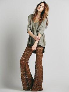 Pantalones que dejan entrever la piel. Silueta 'Seventies' , cómo usarlos!