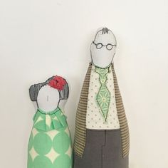Family Portrait Couple Dolls  he high with glasses by TIMOHANDMADE