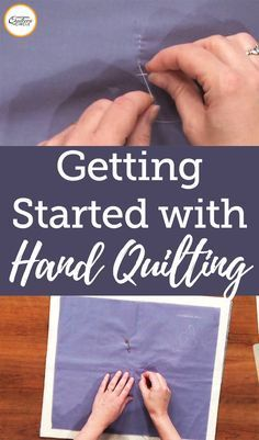 Tips and Techniques to Hand Quilting If you been looking to try out hand quilting but don't know where to start, this is for you! Check out these quilting tutorials for hand quilted embroidery, hand applique techniques, hand quilted designs, and more. Easy Hand Quilting, Machine Quilting Patterns, Hand Embroidery Patterns, Quilt Patterns, Embroidery Thread, How To Hand Quilt, Beginner Embroidery, Beginner Crochet, Thread Art