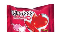 This wearable candy features an adjustable ring band and a heart-shaped, cherry-flavored hard candy right on top. Valentine's Day Rings, Candy Brands, Valentines Day Party, Party Stores, Heart Shapes, Affordable Clothes, Ring Pops, Rock Bed, Camp Rock