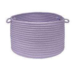 Colonial Mills Simply Home Solid Braided Storage Basket - Purple Storage Containers, Storage Baskets, Small Storage, Storage Boxes, Mode Crochet, Simply Home, Round Basket, Mens Gift Sets, Baby Clothes Shops