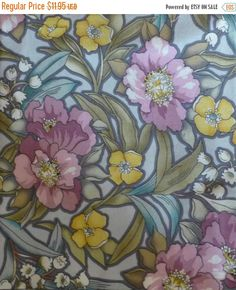 50% OFF SALE - Cotton Fabric Tiffany by Whistler Studios,fie /Windham Fabrics, By the Yard, Quilting, Home Decor Fabric, Floral Fabric