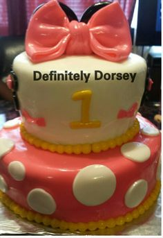 Mini Minnie Mouse Cake Chef Sonya Dorsey creation
