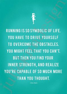 Running Strong Print  5 x 7 custom color by JulieKimDesign on Etsy, $8.00