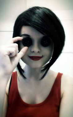 "the other mother from ""Coraline"" HALLOWEEN COSTUME IDEAAAAA."