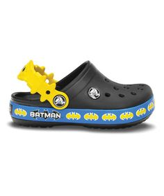 eb467afdd Another great find on  zulily! Black Crocband Batman Clog by Crocs   zulilyfinds Kids