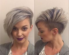 SELFIE: Titanium and Undercut | Modern Salon  @captainskye
