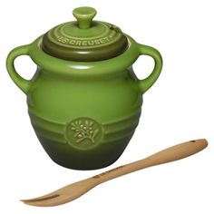 Le Creuset Olive Jar with Wood Fork at Joss & Main