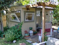 Old Windows and Doors | clever use of old doors and windows