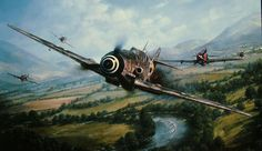 John Shaw Aviation Art: The Warrior and the Wolfpack - A Tribute to Guenther Rall and the 56th Fighter Group