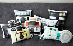 Vintage Camera Pillows by Ronda J Smith - these are so fun!