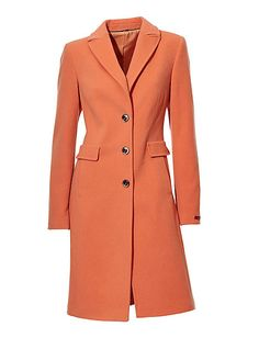 Koop Ashley Brooke - Wollen mantel mandarijn in de Heine online-shop soft orange salmon color wollen coat