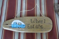 hand painted driftwood sign that i did