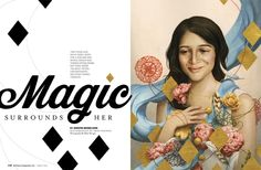 Baltimore Magazine. March 2016. Magic Surrounds Her. Illustration by Tran Nguyen. Photography by Mike Morgan.