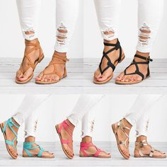 Women Casual Summer Sandals Slip on Boho Beach Slingback