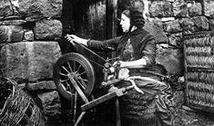 Clan Name Scottish Highlands MacKay | Old Photograph Crofter Spinning Wool Scotland