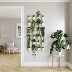 Suport perete ghivece Infinity Indoor Plant Wall, Plant Wall Decor, House Plants Decor, Indoor Plants, Hanging Plant Wall, Living Room Plants Decor, Wall Mounted Planters Indoor, Diy Wall Planter, Bedroom With Plants
